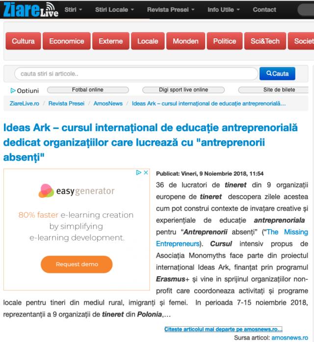 Ideas Ark in media